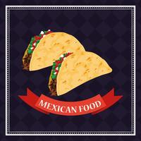Cartão de comida mexicana vetor