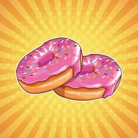 Donuts pop art dos desenhos animados