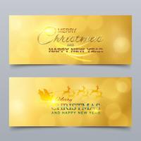 Feliz Natal e Feliz Ano Novo. Banner, design de cartão vetor