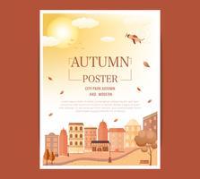 cartaz festival de meados de outono.