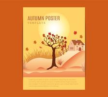 cartaz festival de meados de outono. vetor