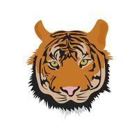 Ilustração realista de vetor bonito Tigre ferido