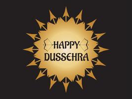 Festival de Dussehra feliz da Índia decoração com fundo de arco e flecha vetor