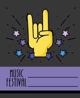 concerto do evento do festival de música rock vetor