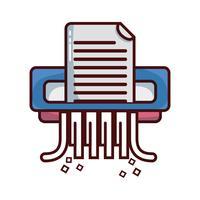 projeto de máquina do shredder de papel do escritório vetor