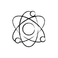 figura átomo de órbita da física para a educação em química vetor