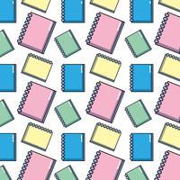 design de objeto de papéis de caderno para escrever o plano de fundo vetor