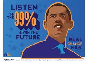 Gráficos de Obama vetor