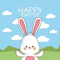 Cartão de páscoa feliz