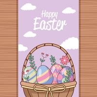 Cartão de feliz dia de Páscoa
