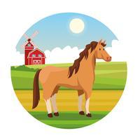 Desenhos de animais rurais de fazenda vetor