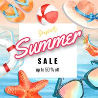 Mídia social viajar de férias de verão a praia Luz solar de férias, mar e céu de árvore de palma, design criativo de ilustração vetorial ...