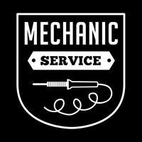Logotipo mecânico e distintivo, bom para impressão vetor