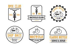 Emblema de bicicleta e logotipo, bom para impressão vetor