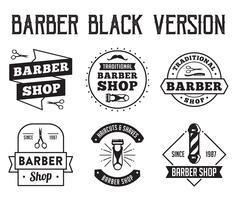 Emblema barbeiro e logotipo, bom para sua loja vetor