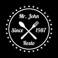 Restaurante Badge e Logo, bom para impressão vetor