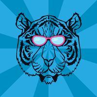 Linha Art Tiger vetor