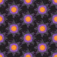 Padrão sem emenda geométrico de halloween colorido de grunge