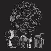 Bebida smoothie de frutas vetor