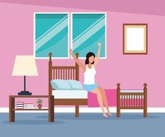 rotinas em casa vetor