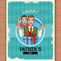 Cartão de dia dos pais feliz