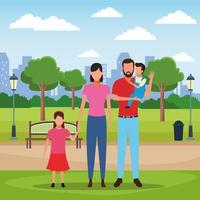 Desenho de pessoas de família