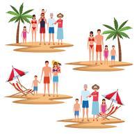 férias na praia da família