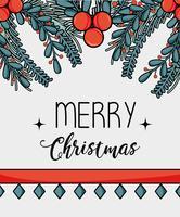 Feliz Natal decoração design para celebração vetor