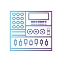 linha de console de áudio eletrônico para tocar música performer vetor