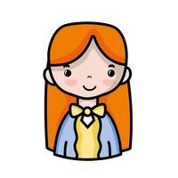 mulher casual com design de penteado e blusa vetor