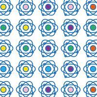 física órbita átomo química educação fundo vetor