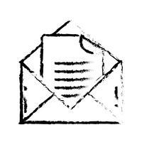 figura mensagem de e-mail com informação do documento vetor