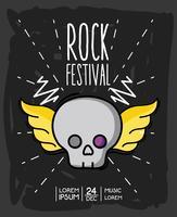 concerto de música de evento de festival de rock vetor