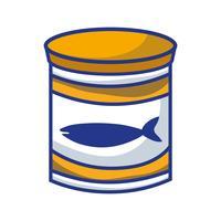 pode refeição de atum com nutrição saudável vetor