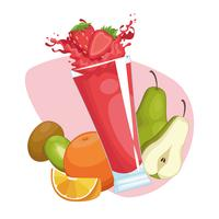 smoothies com frutas