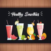smoothies com frutas