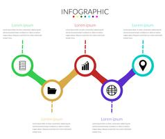 vetor de círculo moderno infográficos