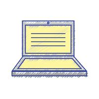 tecnologia eletrônica portátil com design de tela vetor