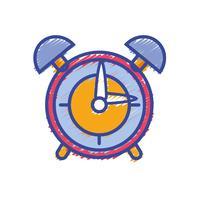 design de objeto de alarme de relógio redondo vetor