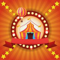 Emblema colorido festival de circo justo