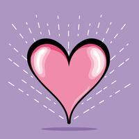 símbolo do coração do design de amor e paixão vetor