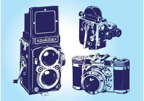 Vetores de câmera vintage