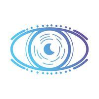 linha olho virtual no jogo de realidade do ciberespaço vetor