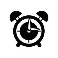 contorno redondo design de objeto de alarme de relógio vetor