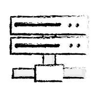 figura rede de dados swich uplink trunk vetor