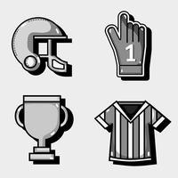 conjunto de elementos de futebol amercan para competição