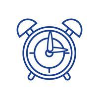 design de objeto de alarme de relógio redondo de silhueta vetor