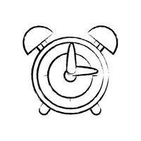 figura projeto de objeto de alarme de relógio redondo vetor
