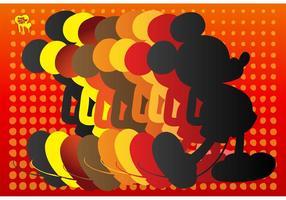 Silhueta do mouse mickey vetor