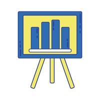 apresentação de estratégia com estatísticas barra gráfica vetor
